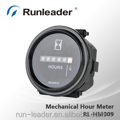 Round Mechanical Hour Meter Timer 12v 24v 48v