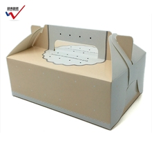 Cake Paper Box Cake Packaging Container Food Paper Gift Box with Handle and pvc window