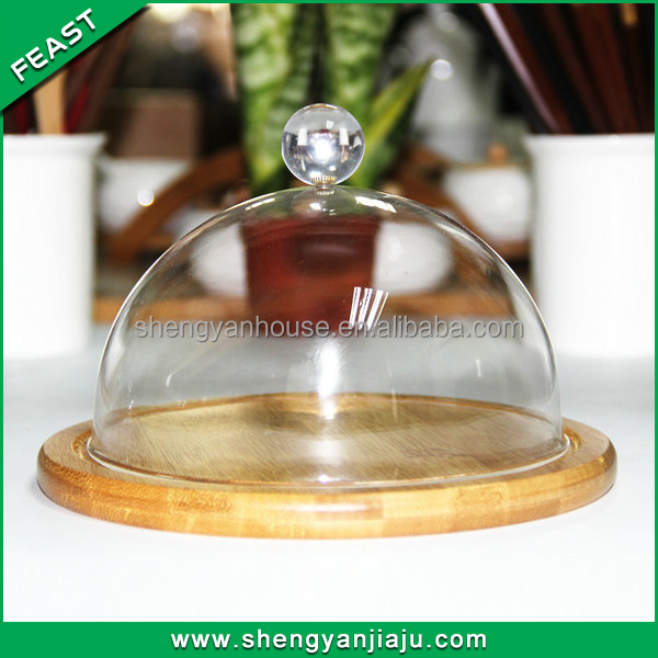 Round Recycled Paper Cake Tray With glass cover