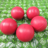 2014 New pink bouncing pet toy rubber ball