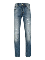 top and jeans photos men skinny 100% cotton denim straight ripped jeans trousers
