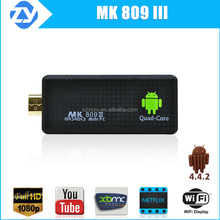 Best android tv stick mk809 iii support Airplay,Ezcast,xmbc with air mouse keyboard