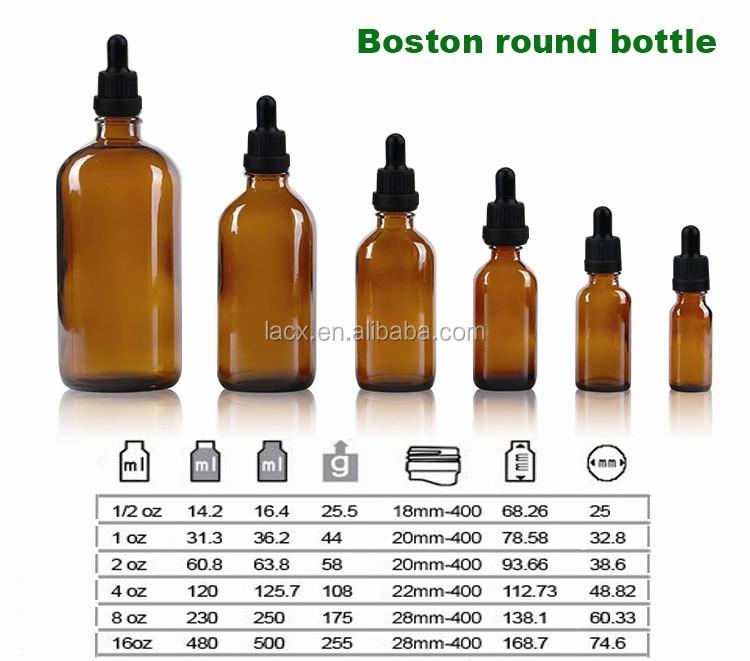 Ml Glass Bottle Boston Crown