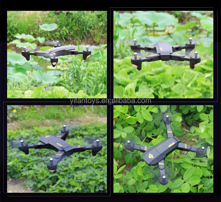 2017 Hot Selling Middle Size Folding 2.4G 4CH Folded RC UFO Drone A Key To Return Foldable RC Quadcopter Kit XS809