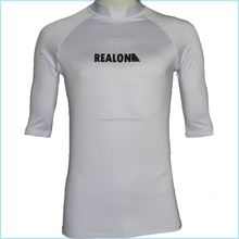 Top Quality Factory Supply White Short Sleeve Surfing Rashguard