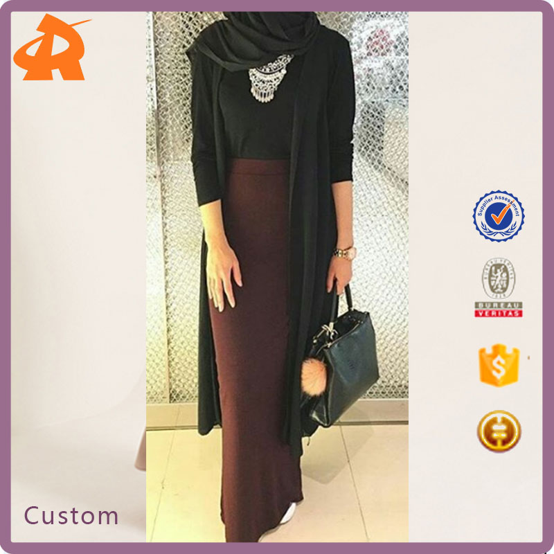 China Product Small Quantiy Muslim Maxi Bodycon Skirt Wholesale