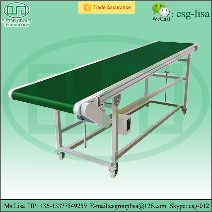 Adjustable height mobile conveyor belt electric motor mobile scrap conveyor belts for sale