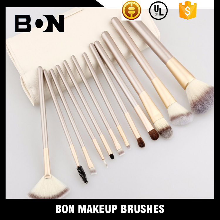 Private label acceptable customized color 100 moq 12 pcs brush for makeup