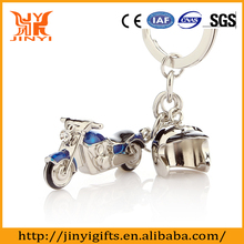 New design of Motorcycle and Helmet shaped car keychain