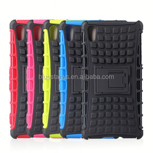 Direct factory price tpu pc for sony xperial z2 l50w stand armor case for sony xperia z2 l50w d6502 d6503