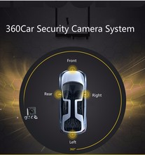 Car top surround 360 degree camera panoramic all round around bird view car security reversing parking camera system
