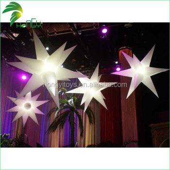 Hot Sale Beautiful Colorful Customized Inflatable Led Falling Star Lights For Advertising