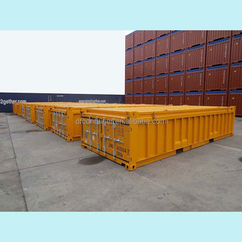 20' Half Height Open Top Shipping Container for ore material transporting
