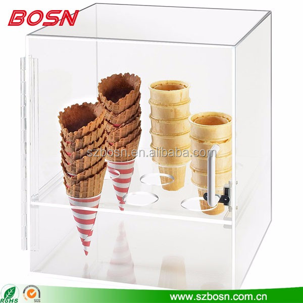 High quality acrylic ice cream showcase lucite Perspex gelato pastry display cabinet
