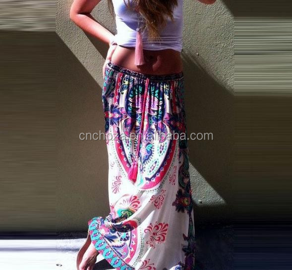 Z50660B Indian Women Boho Floral Print Skirts