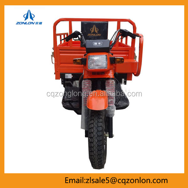 Chongqing Zonlon Three Wheel Motorcycle Cargo Tricycle For Sale