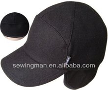 Mens Melton wool winter cap with earflap