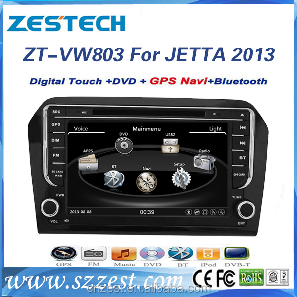 Car gps player for vw jetta 2013 car multimedia with parking sensor
