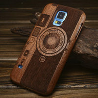 2015 China New Case Wholesale carving wood back case for Galaxy S5 wood back cover for Galaxy S5