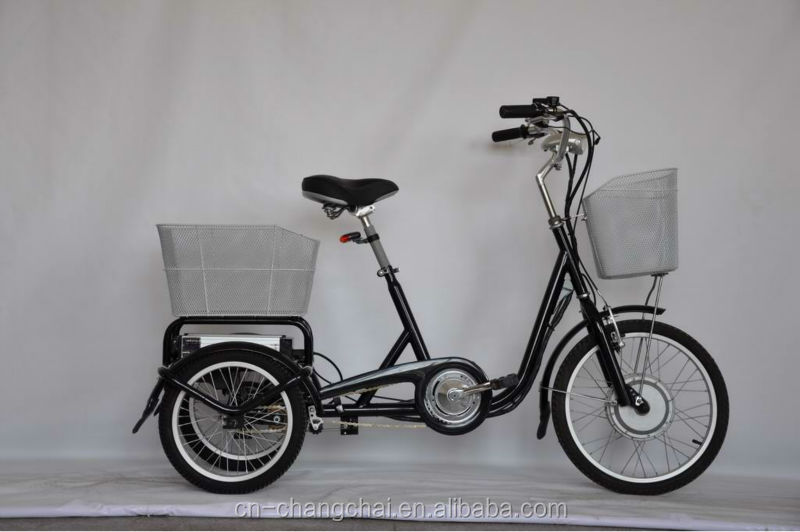 350W Three wheel e-tricycle ,bicycle strong electric bike with Li-ion e-bike, KTN-004