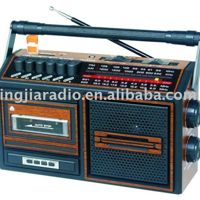 Single AM/FM/SW Radio Cassette Recorder with USB/SD slot PX-129U