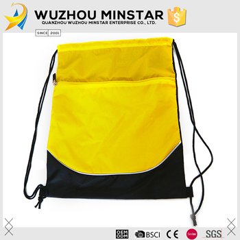 Custom printed personality nylon drawstring backpack bag