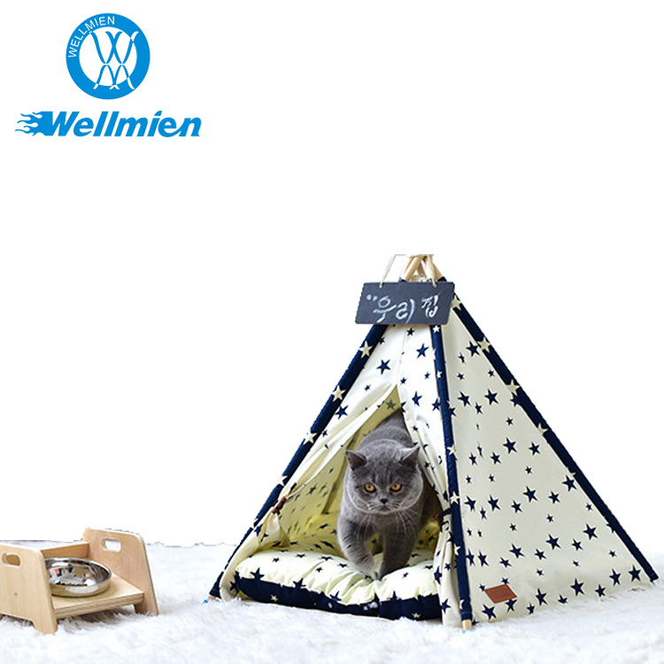Small Star Indoor Big Wooden Canopy Dog House