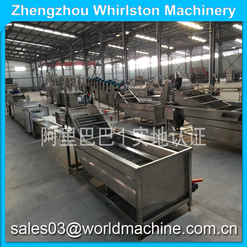 Excellent quality full automatic potato chips production line/fresh potato chips making machine/frozen french fries maker