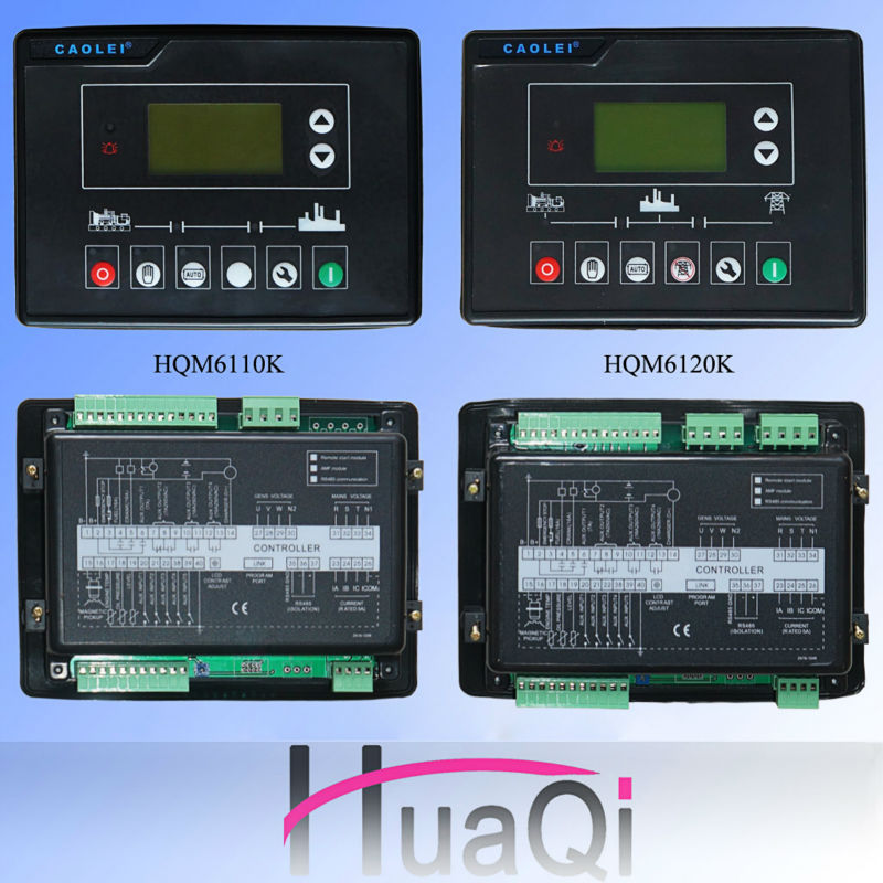 LCD Display Genset ATS Generator Controller Panel HQM6100K