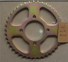 motorbike parts GN125 motorcycle chain sprocket for Columbia
