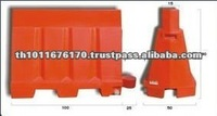 Red Color Plastic Traffic Safety Barrier