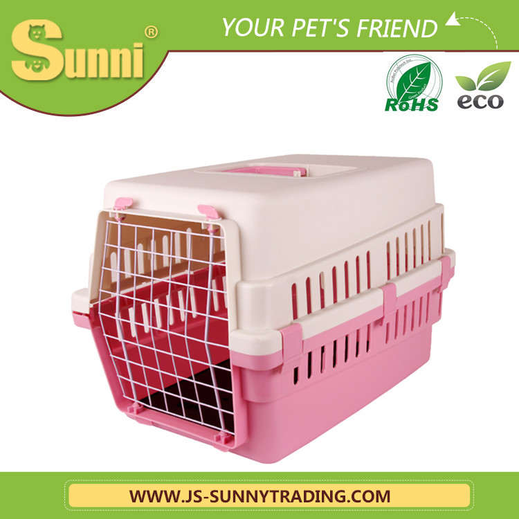 Wholesale pink dog carrier pvc dog house