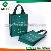 Thick Non Woven Tote Bag With Snap Button As Closure for Bank Advertising