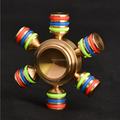 2017 NEW design relieve stress fidget toys ispin hand spinner stainless steel bearing six axis finger fidget spinner