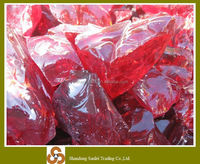 High quality red landscaping crushed glass prices