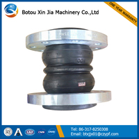 double sphere rubber bellow expansion joint with flange