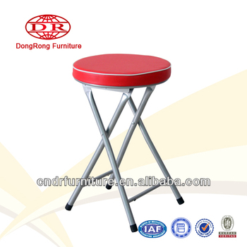 Pvc Cushion Seat Metal Folding Chair Buy Folding Chair Metal Folding Stool