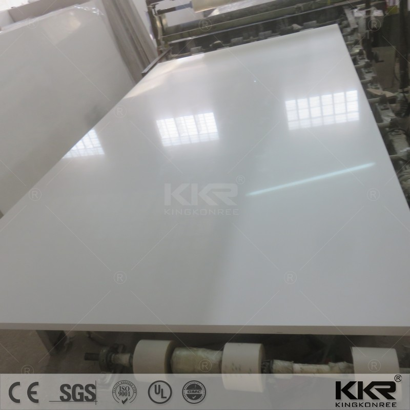 snow white with mirror quartz stone , white marble quartz slab , ivory marble quartz slab
