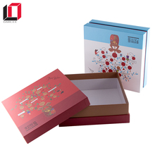 Luxury design cardboard paper cake box packaging with lids