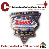 High quality souvenir custom enamel metal car badge emblems
