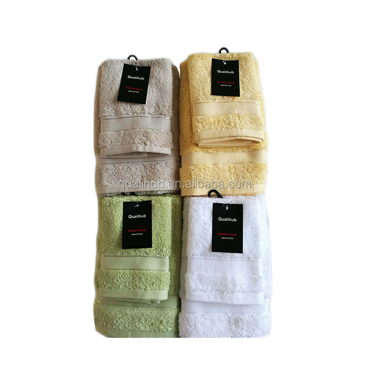 good absorption  super soft  towel set in cotton