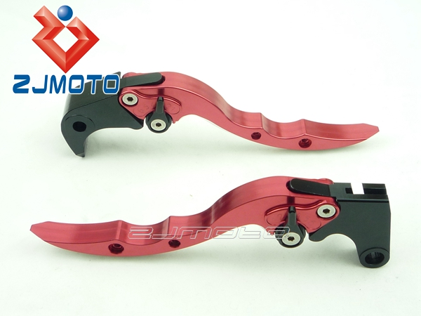 Zjmoto wholesale aluminum motorcycle Brake clutch Lever guard for Aprilia Tuono/R 2003-2009(Knife Shape Levers)