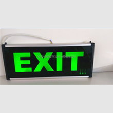 Rechargeable led emergency alarm sign lamp safety led exit sign single double side led elevator emergency light sign