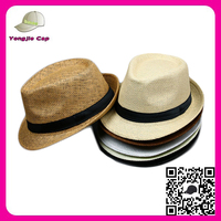 High Quality Wholesale Cheap Beach Panama Hats Custom Gangster Fedora Hats