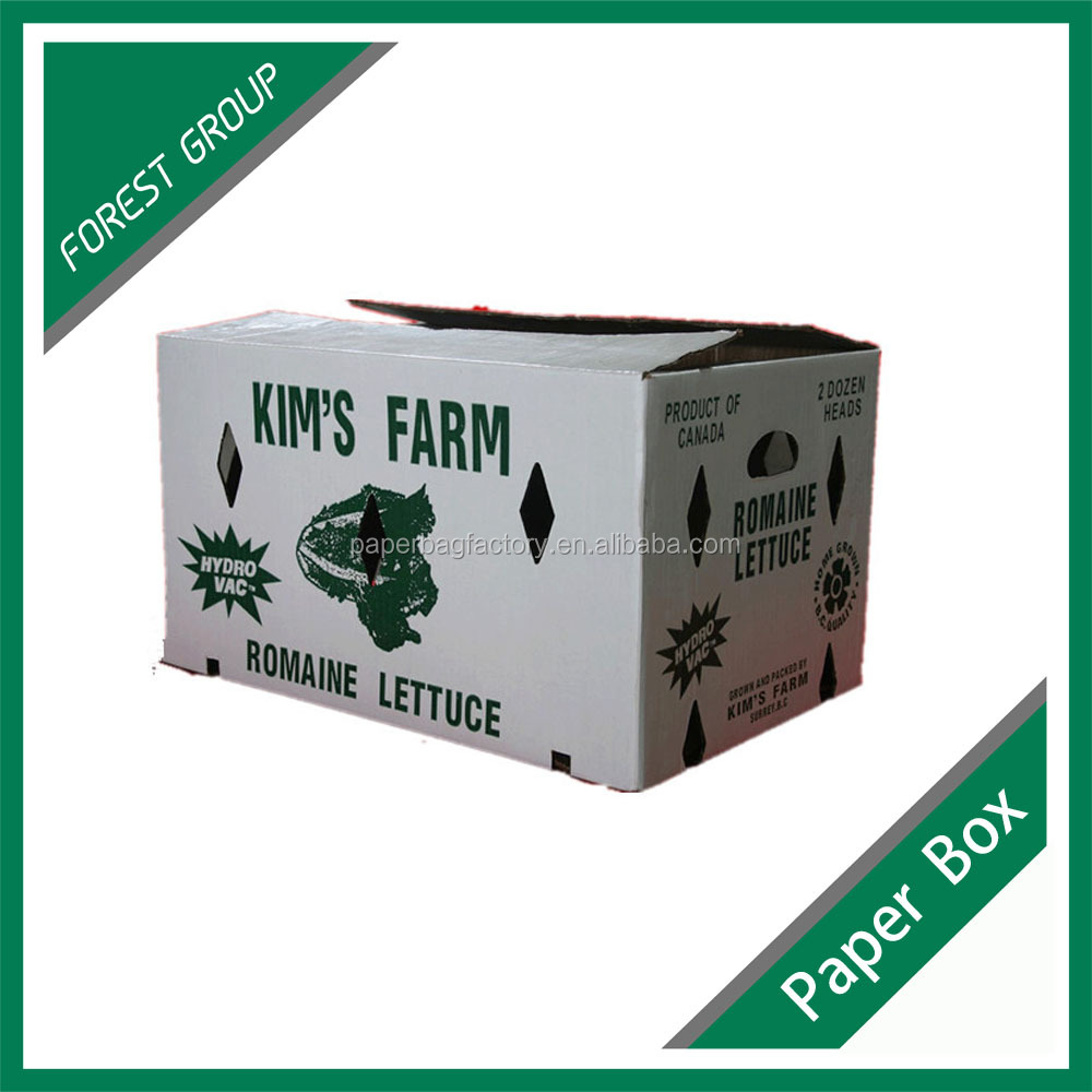 wax corrugated vegetable packaging box