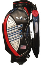 PU Leather/ Poly Travel Golf Bag Customized Golf Bag Golf Cart Bag