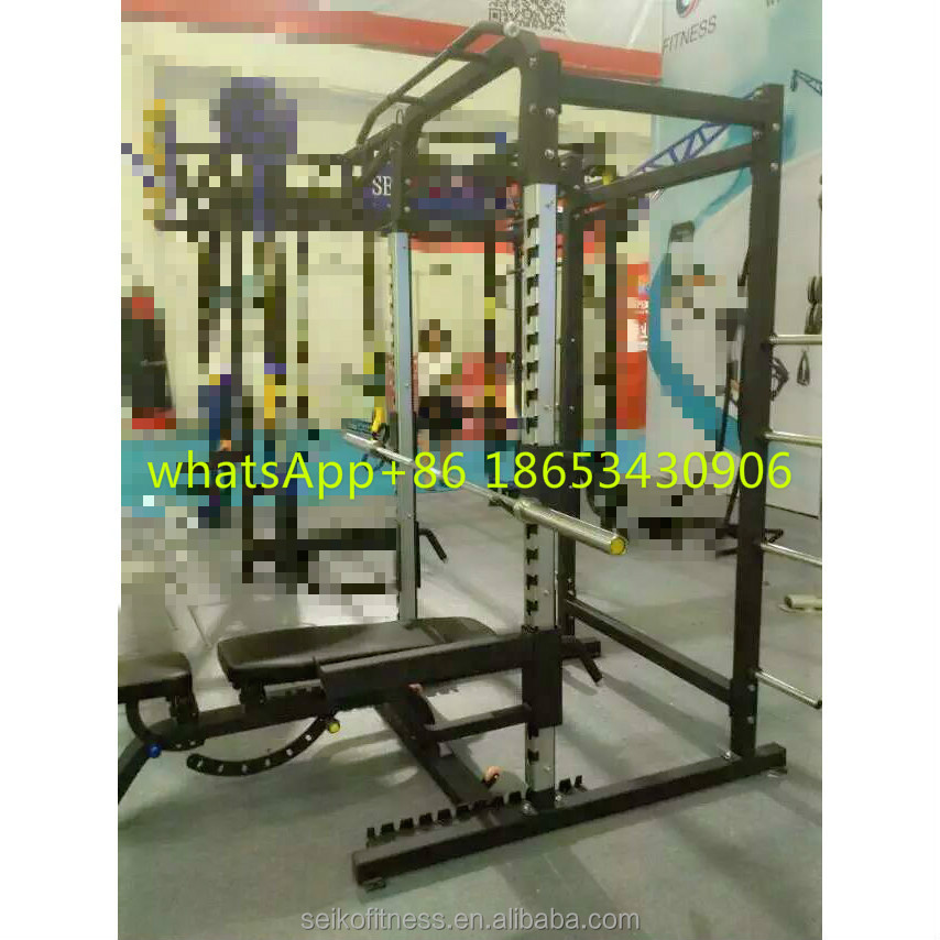 Power Rack With J hooks and Lat down power cage powertec fitness equipment