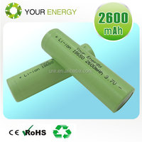 High drain discharge 18650 li ion battery 20A 35A 1500mah/2500mah/3000mah/3500mah 3.7v icr 18650 li-ion rechargeable battery