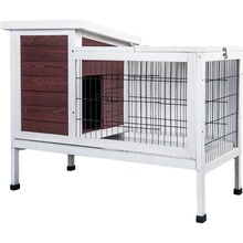 Outdoor waterproof wooden rabbit cage with run