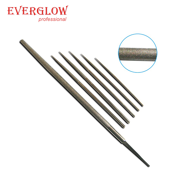 China Supplier Comfortable Handle Tools High Precise Round Hardness Steel File